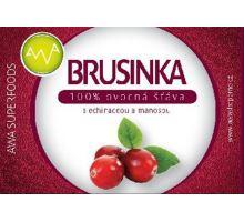 AWA superfoods Brusinka - 100% šťáva s echinaceou a manosou 250 ml