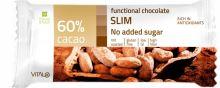 Funkční čokoláda SLIM, No added sugar, 60% cacao 25 g