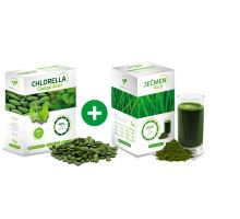 Chlorella ginkgo Aktif 250g a Jačmeň Aktif 250g