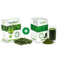 Chlorella ginkgo Aktif 250g a Ječmen Aktif 250g