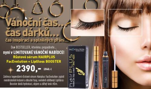 Hairplus rastové sérum a lipgloss Booster