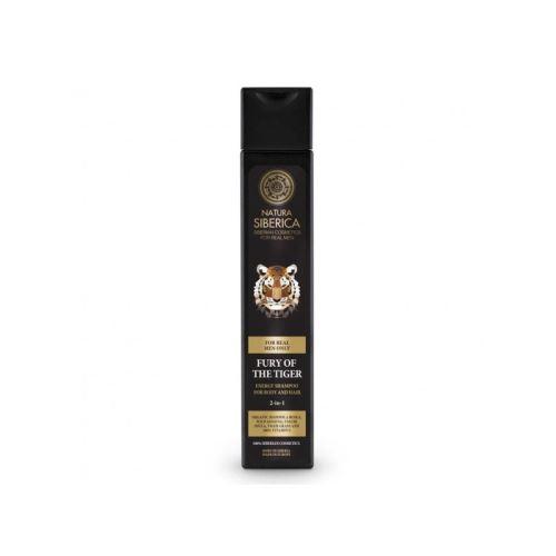 Energizující šampon na vlasy a tělo 2 v 1 - Nezkrotnost tygra, Natura Siberica - MEN 250ml