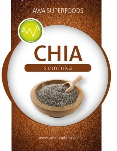 AWA superfoods Chia semienka 1000 g 4 ks + darček