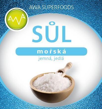 Soľ morská jemná jedlá 500g