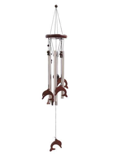 Klasická kovovo-drevená zvonkohra Delfíny