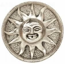 Stojan na vonné tyčinky kov slnka