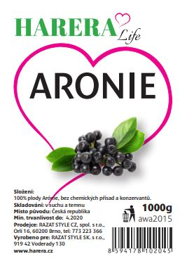 RA FOOD aronia sušená natural 1000g