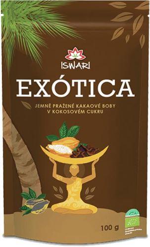 Iswari BIO Kakaové bôby v kokosovom cukru 100g