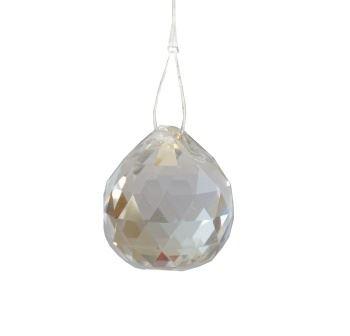 Kříšťálová skleněná guľa Feng shui 70mm