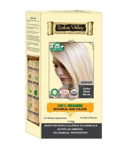 BIO organic Henna Organická farba na vlasy Golden Wheat Blonde