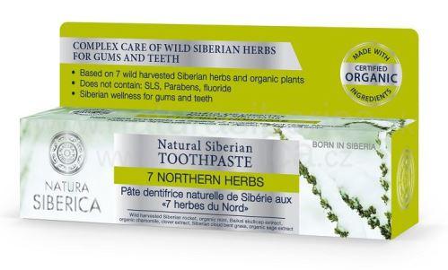 Prírodná sibírska zubná pasta 7 sibírskych bylín, Natura Siberica 100g