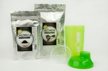 AWA superfoods Jačmeň 200g + Chlorella 200g + Shaker