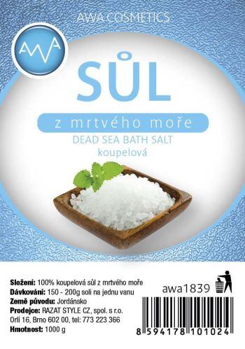 AWA cosmetics  Soľ z mŕtveho mora kúpeľ 1000g