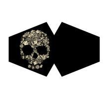 Rouška černá se vzorem