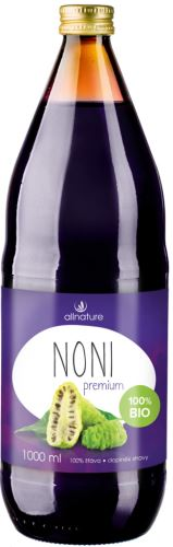 Allnature 100% Bio šťava z plodov Noni BIO 1000ml