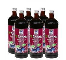 Arónia BIO (čierna jarabina), 100 % priamo lisované šťavy, 6 x 0,7 litrov