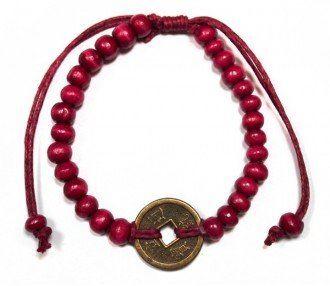 Náramok Feng-Shui pre Šťastie červený