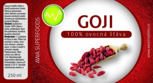 AWA superfoods Goji 100% šťava 250 ml