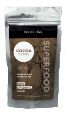 Health link nepražené kakaové bôby criollo RAW BIO 100g