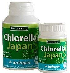 Chlorella Japan + kolagénom 250 tbl.