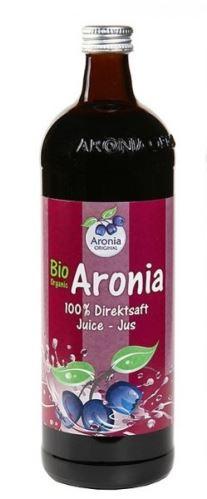 Arónia BIO (čierna jarabina), 100 % priamo lisované šťavy, 0,7 litrov