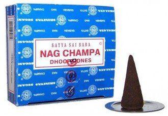 Vonné kužeľa Satya Sai Baba Nag Champa 12 ks