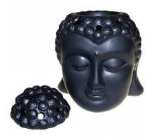 Aromalampa Hlava Buddha čierna