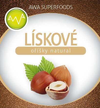 AWA superfoods Lieskové orechy natural 500g