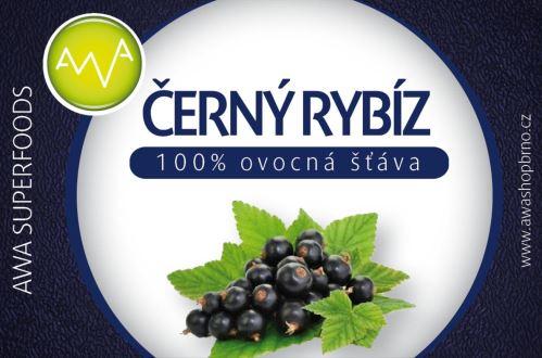 AWA superfoods Čierne ríbezle 100% šťava 250 ml