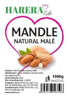 RA FOOD mandle natural malé 1000g