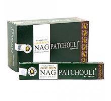 Indické vonné tyčinky Golden Nag Patchouli 15g