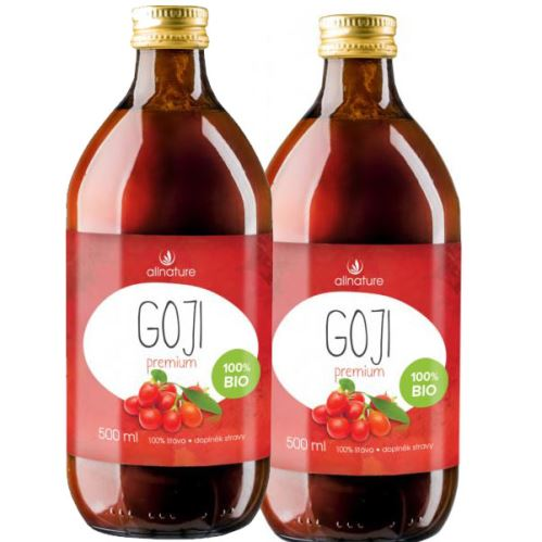 Allnature goji Bio šťava 500ml, 2ks