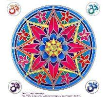 Mandala Sunseal V Ohm Flower Mandala