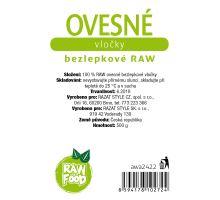 AWA superfoods ovsené vločky bezlepkové RAW 500g
