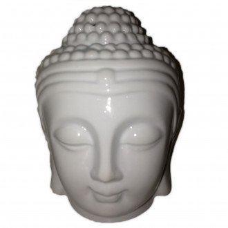 Aromalampa Hlava Buddha bílá