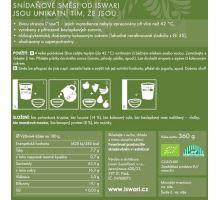 Iswari BIO RAW Raňajky zmes konopný proteín lucuma 360g