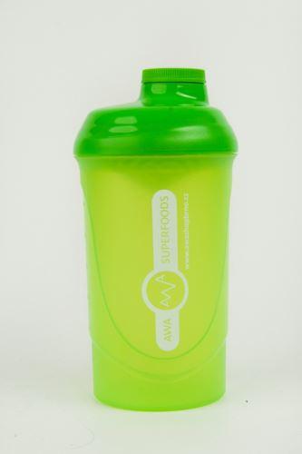 AWA superfoods plastový šejker zelený 600ml