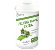 Zelená káva extra s vitamínom C a chrómu 60 kapsúl