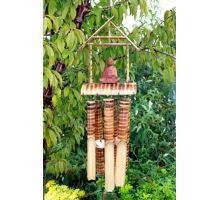 Bambusová Zvonkohra - 6 stredných trubíc a Budha