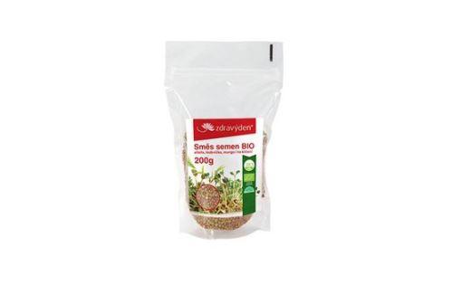 Zmes semienka na klíčenie BIO - alfalfa, ředkvička, mungo 200g