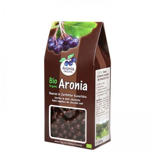 Arónie BIO (čierna jeřabina), sušené ovocie v horkej čokoládě 200 g