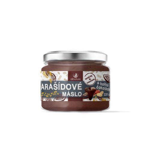 Allnature Arašidové maslo s horkou čokoládou 220g