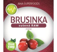 AWA superfoods sušená brusnica mletá RAW 100g