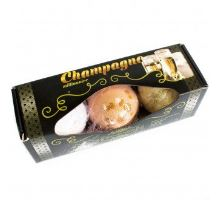 Šumivé bomby do koupele Šampaňské sada 3 ks