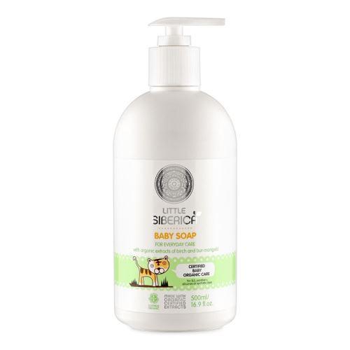 Detské mydlo na každý deň s prírodnými výťažkami s brezy a dvojzuba, Little  Siberica 500ml