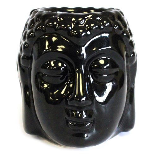 Aromalampa Hlava Buddha čierna malá