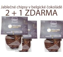 Jablkové chipsy v belgickej čokoláde 2 + 1 ZADARMO