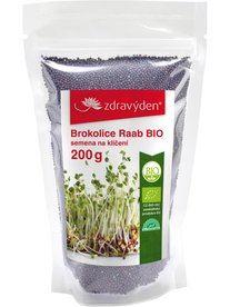Brokolica Raab semená na klíčenie BIO 200 g