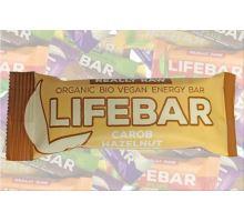 Karobová s lískovými oriešky BIO RAW, Lifebar 47g
